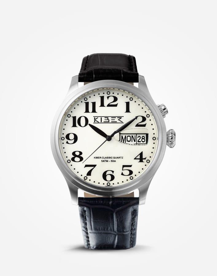 Kiber Iluma RVS horloge met grote cijfers